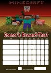 Personalised Minecraft Reward Chart (adding photo option available)